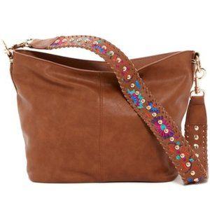 New Steve Madden Bratchel Cognac Hobo Handbag